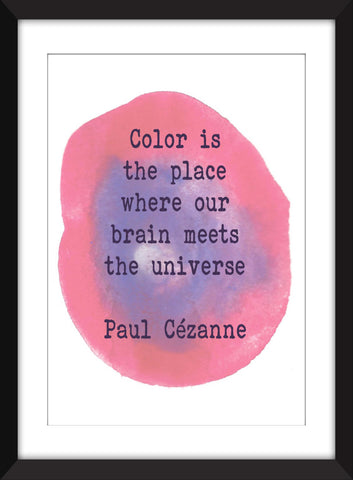 Paul Cézanne Color Quote - Unframed Print