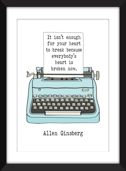 Set of 3 Beat Generation Quotes - Unframed Prints