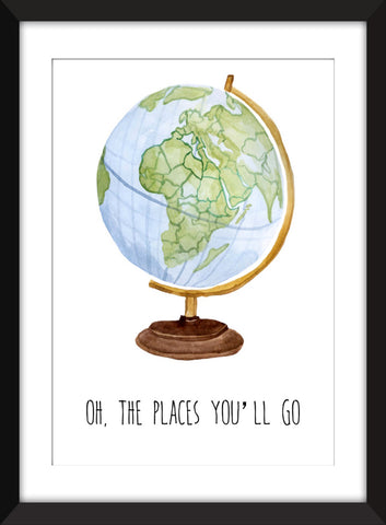 Oh The Places You'll Go - Unframed Children's Print