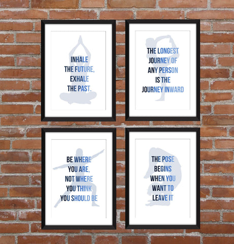 Set of 4 Yoga Quotes - Unframed Prints