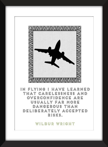 Wilbur Wright Risks Quote - Unframed Aviation Print