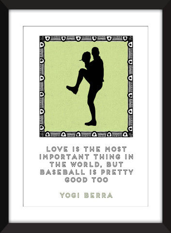 Yogi Berra Baseball Quote - Unframed Print