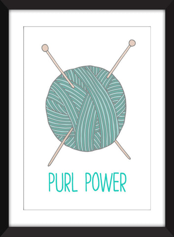 Purl Power - Unframed Knitting Print
