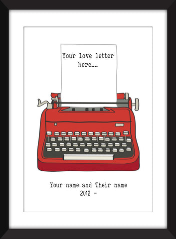 Personalised Love Letter - Unframed Print