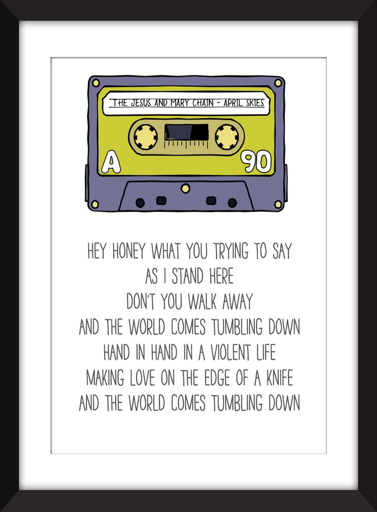 Jesus and Mary Chain April Skies Lyrics - Unframed Print