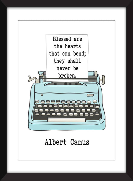 Albert Camus Blessed Are the Hearts Quote - Unframed Print