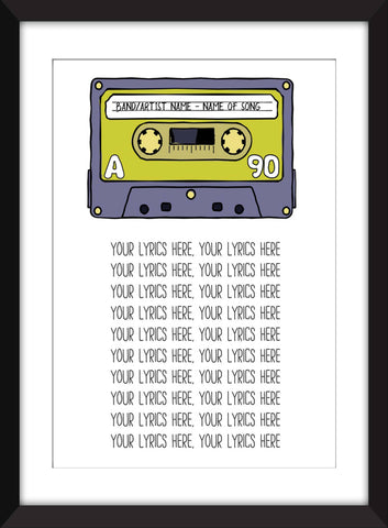 Favourite Song Lyrics Unframed Print - Perfect Gift Idea