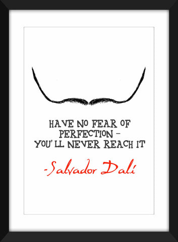 "Salvador Dali ""Perfection"" Quote - Unframed Print"