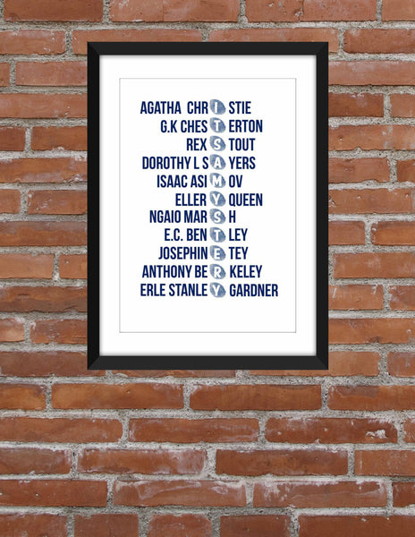 Classic Mystery Writers - Unframed Print