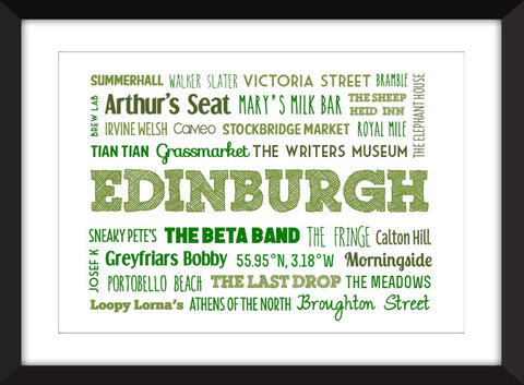 A Celebration of Edinburgh - Unframed Print