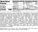 Nutrition Information for 1 pound of Gourmet Berry Mix