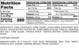 Nutrition Information for 1 pound of Dark Chocolate Sea Salt Cashews