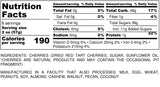 Nutrition Information for 1 pound of Tart and Sweet Cherries