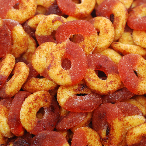 Gummi Peach Rings - Spicy
