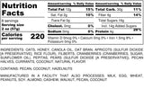 Nutrition Information for 1 pound of Bountiful Harvest Granola