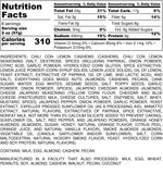 Nutrition Information for 1 pound of Big Al's Sweet and Salty Mixed Nuts