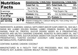 Nutrition Information for 1 pound of Oakville Blend Trail Mix