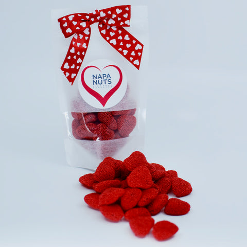 Valentine's Day Gift Bag - Red Raspberry Hearts