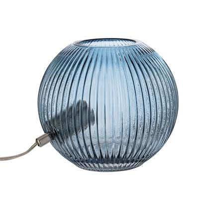 Bloomingville Blue Glass Bowl Style Table Lamp