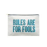 Rules Are For Fools Large Canvas Pouch