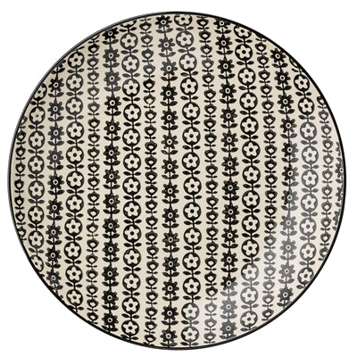 Flower Daisy Plate Black