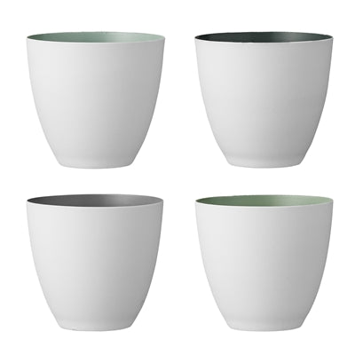 Porcelain Votives Shades Of Sage