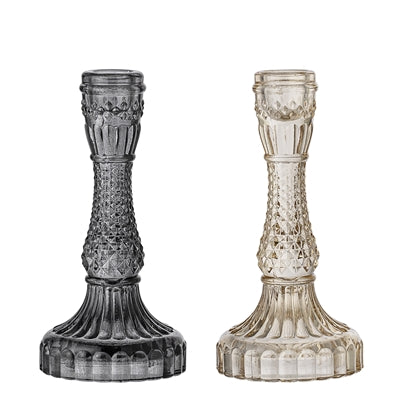 Glass Candlestick Small