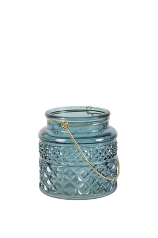 Monteux Tea Light Turquoise Dark Green