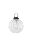 Clear Glass Swirl Bauble Small
