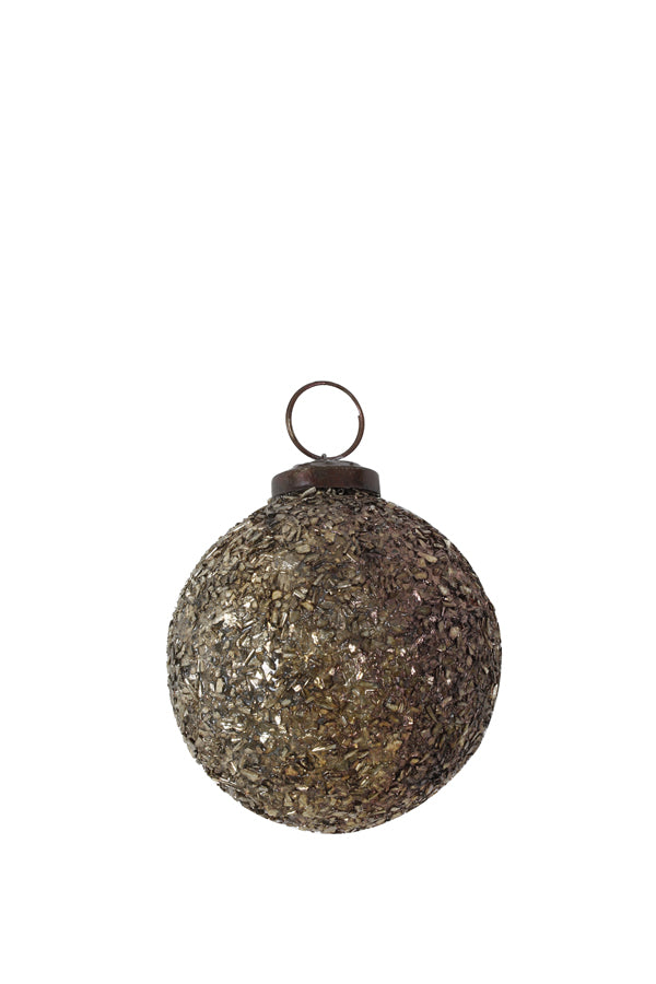Gold Glitter Glass Bauble
