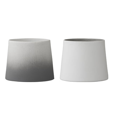 Ombre White Porcelain Votive Grey/white
