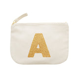 letter glitter pouch A canvas accessories