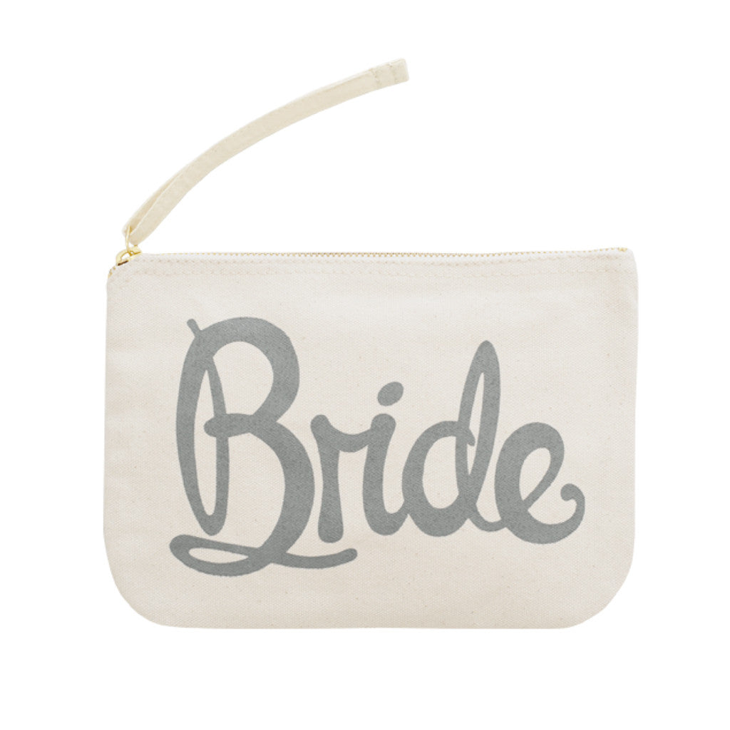 bride pouch grey canvas accessories