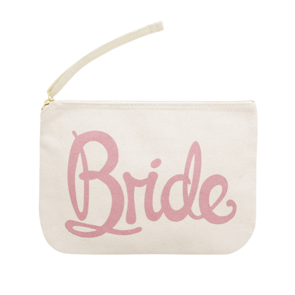 bride pouch rose canvas accessories