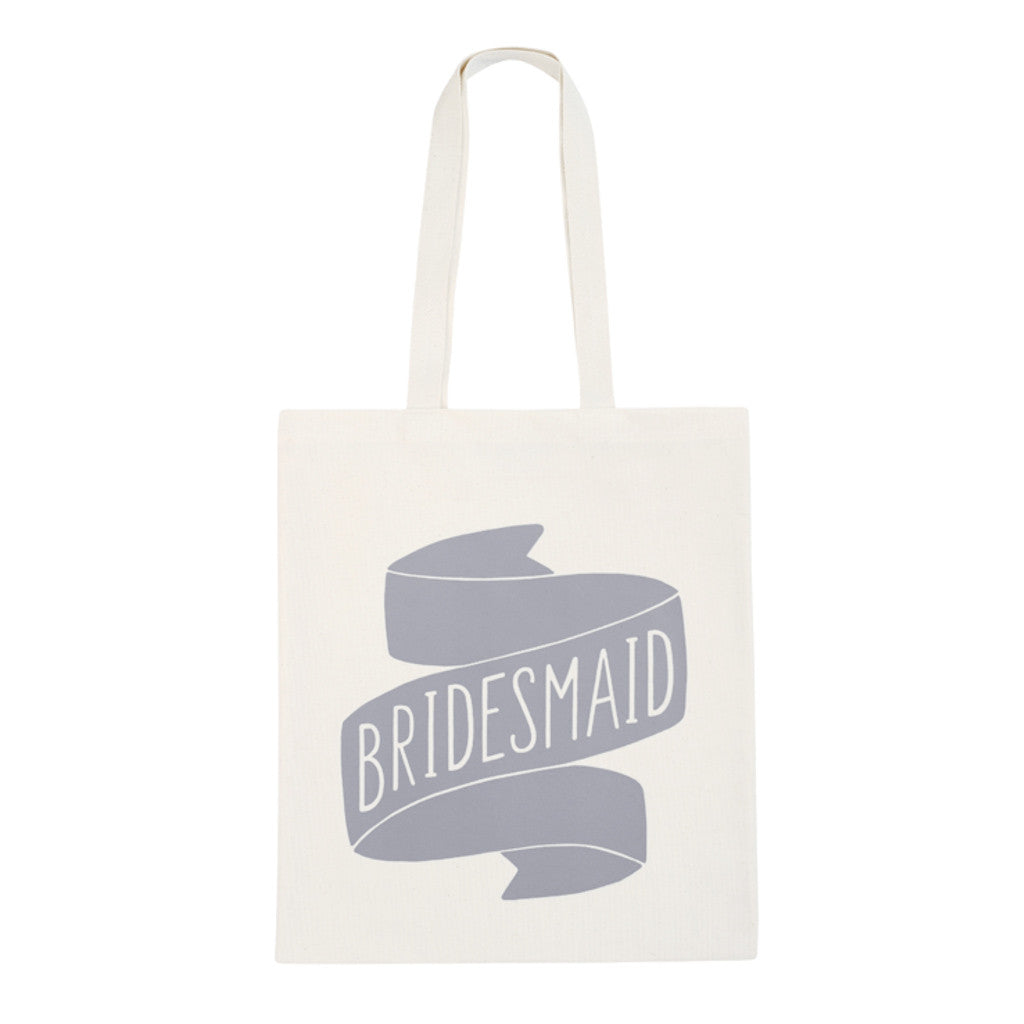 bridesmaid canvas bag grey accessories