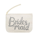 bridesmaid pouch grey canvas accessories