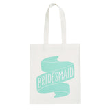 bridesmaid canvas bag mint accessories