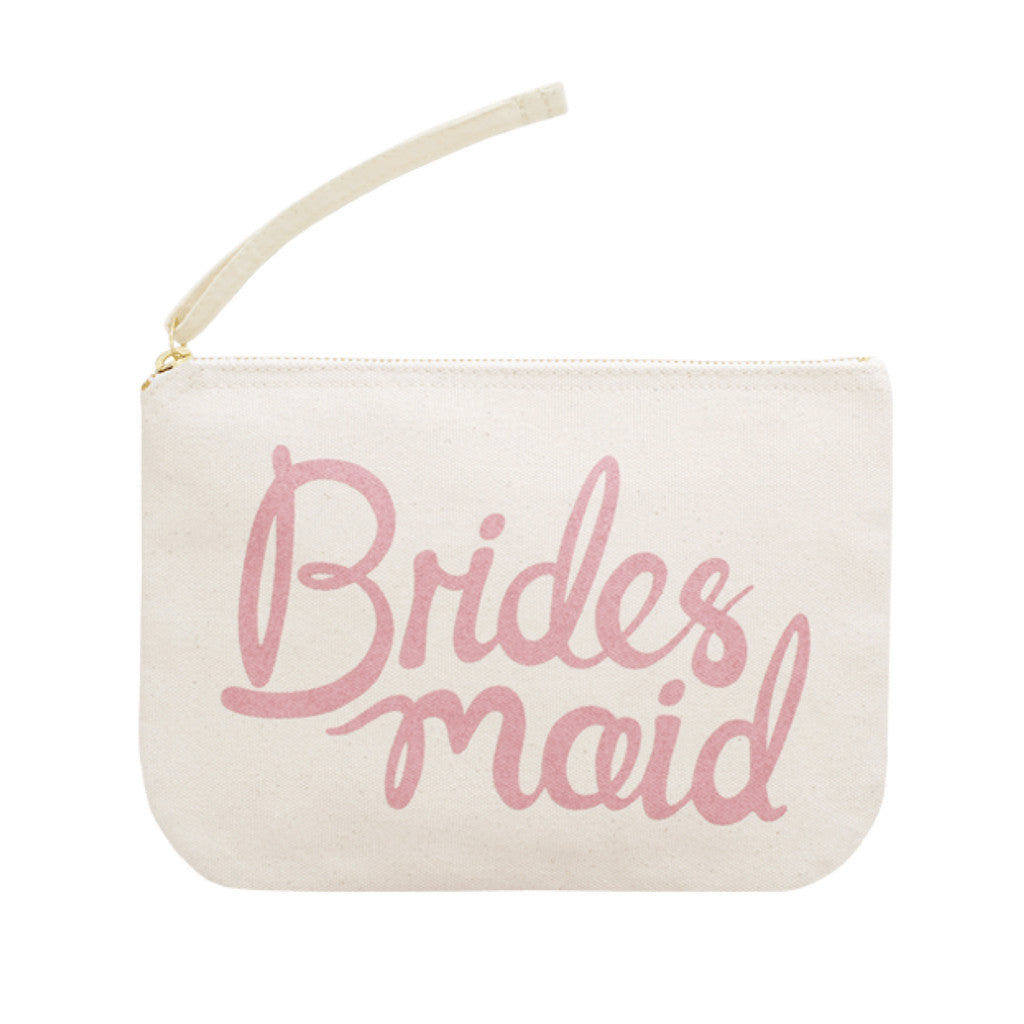 bridesmaid pouch canvas pink accessories