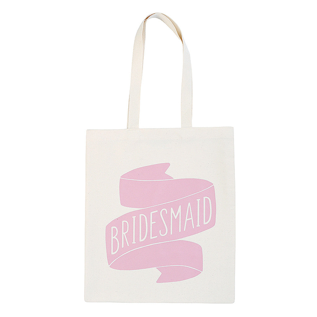 bridesmaid canvas bag rose accessories