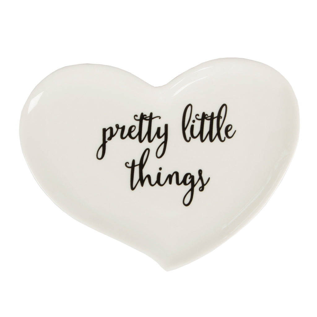 pretty little thing heart dish in white