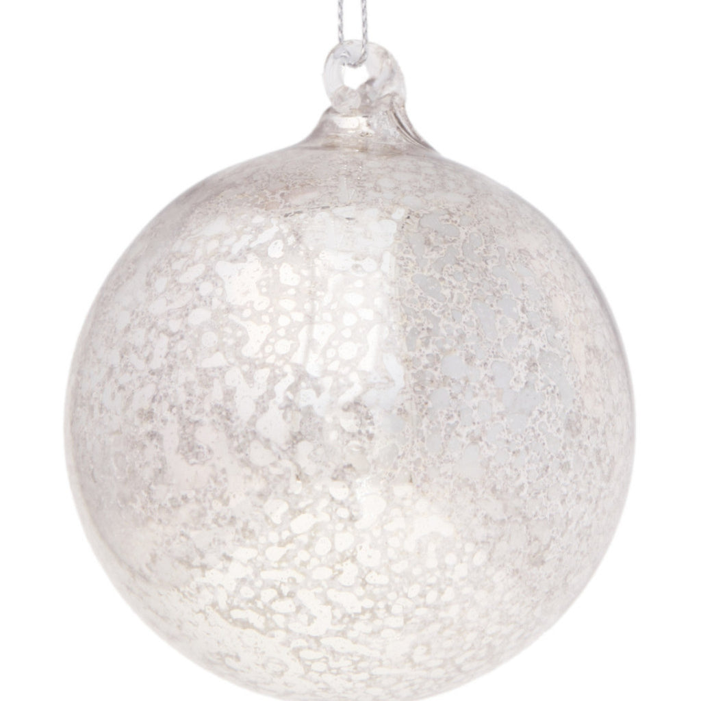 Silver Crackle Bauble