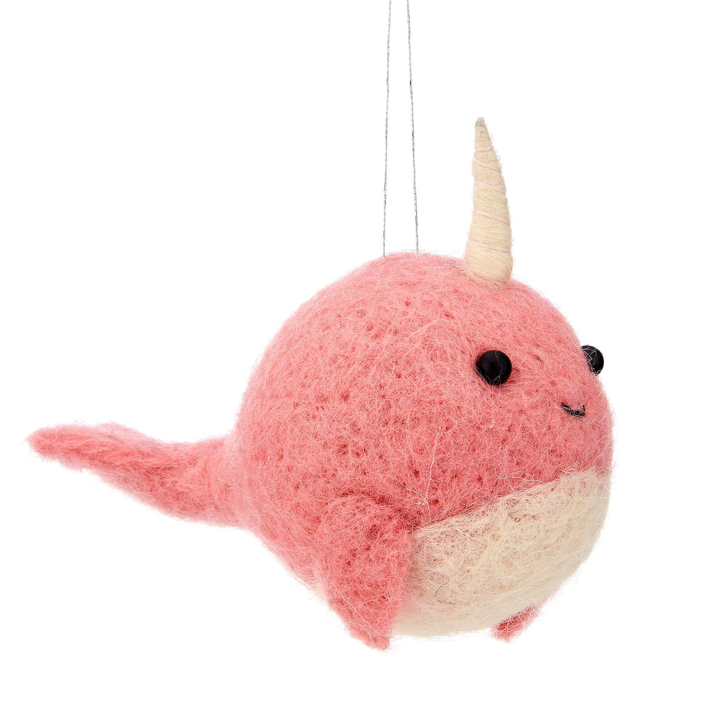 Narwhal Felt Decoration