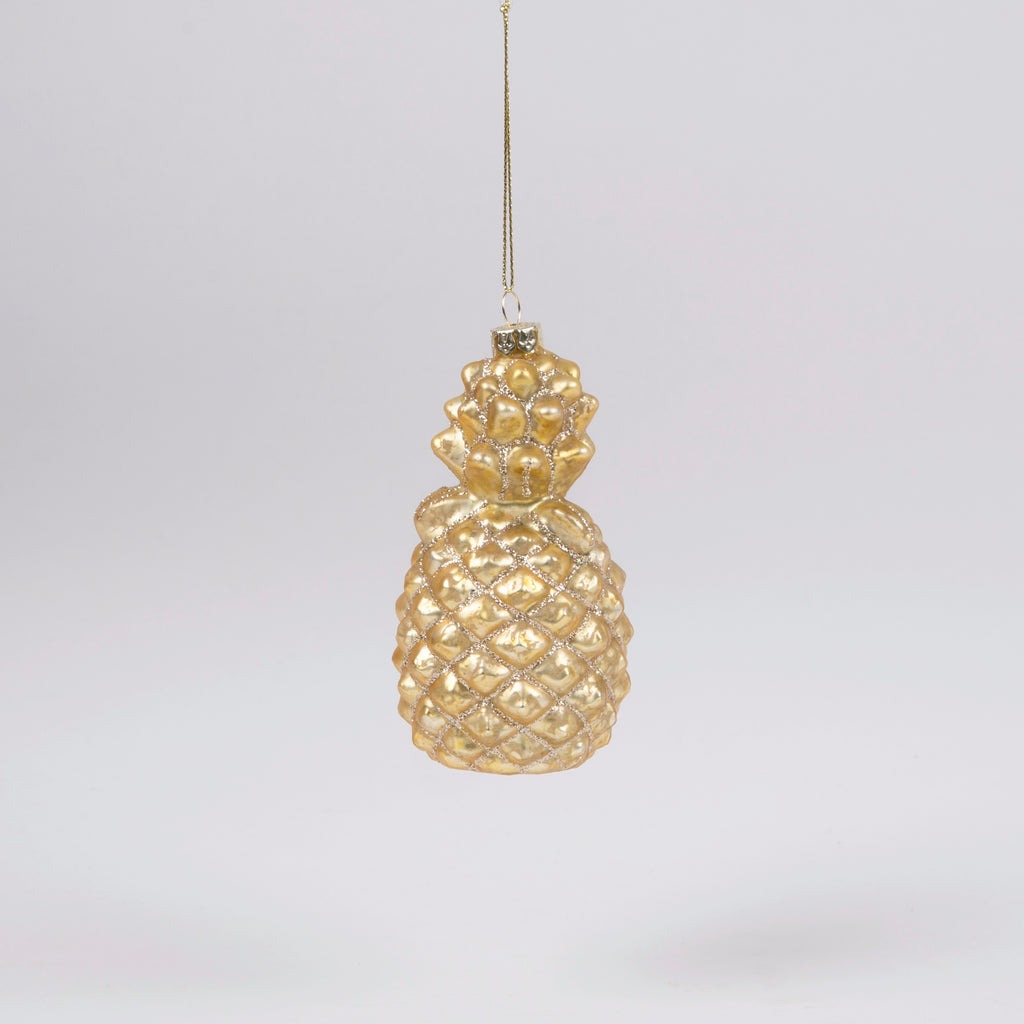 Glitzy Gold Pineapple Bauble