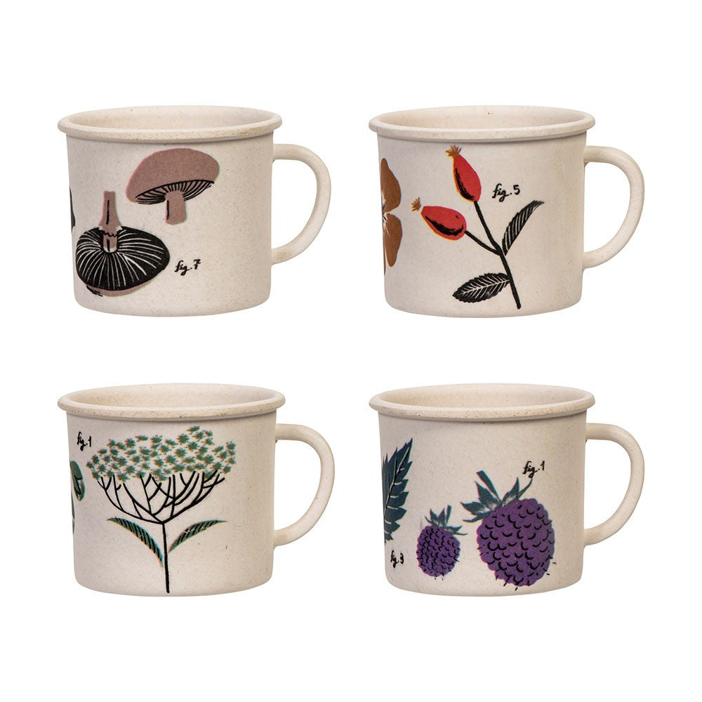 Flora Set Of 4 Espresso Cups