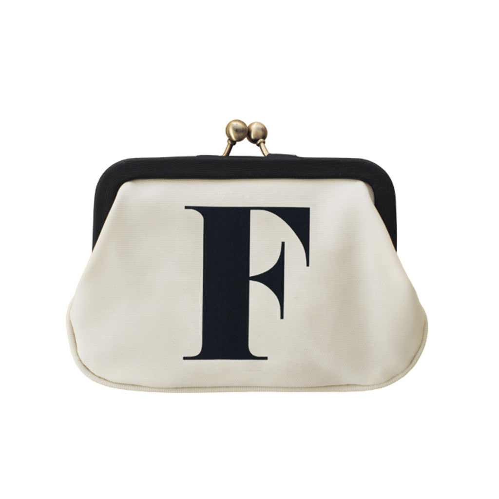 letter F coin purse accessories