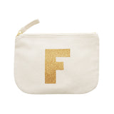 letter glitter pouch F canvas accessories