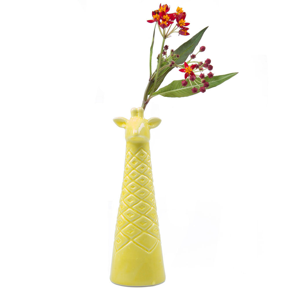 giraffe vase yellow homeware