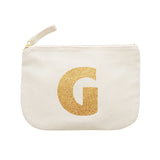 letter glitter pouch G canvas accessories