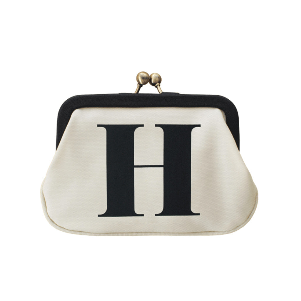 letter H coin purse accessories