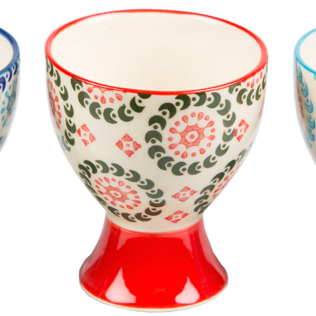 boho egg cup red also available in blue and navy